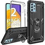 AROYI (2 Styles Case Cover Compatibile con Samsung Galaxy A52 5G Custodia, Grado Militare 360° Magnetica Anello Supporto Cas