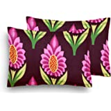 Home Elite Designer Printed Cotton Pillow Covers - Regular Size(17 x 27 inches) - Multicolor - Set of 2,RG-PCC-19