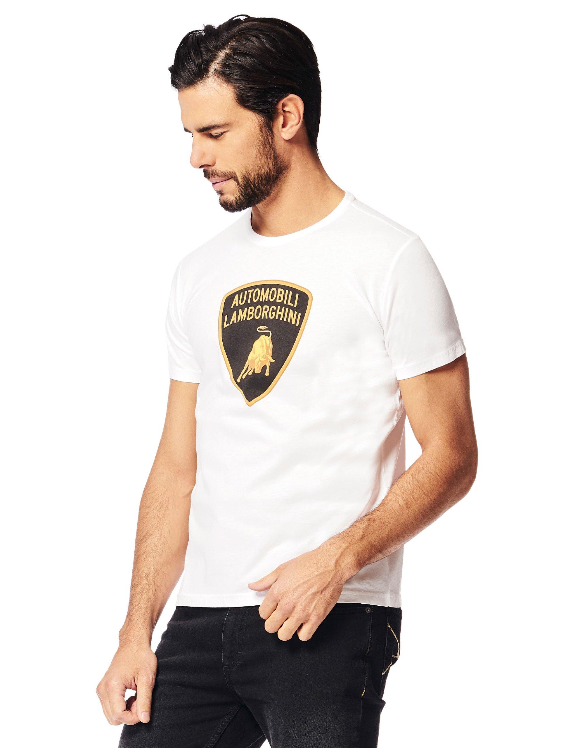 Automobili Lamborghini T-Shirt Scudo Lamborghini Uomo