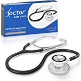 AIESI® Fonendoscopio Pediatrico Professionale a doppia testa colore nero DOCTOR BABY SCOPE # Garanzia Italia 24 mesi