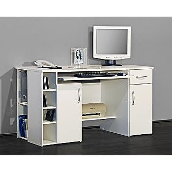 Kleiner Wei Er Schreibtisch , 4129 Putertisch Schreibtisch Pc Tisch In Weiß Amazon