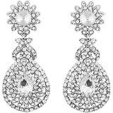 I Jewels Silver Plated Austrian Diamond Earrings for Women (E2100ZW)