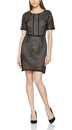 c0e08733a1565 SAINT TROPEZ Damen Kleid P6104 Schwarz (Black 1)