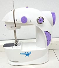 Gopani Plastic Multi Functional Electric Sewing Machines for Home Household Double Stitches (White)