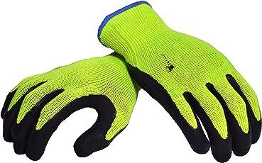 G & F 1516x l Premium Hohe Sichtbarkeit alle Zweck MICROFOAM Doppelter texure Beschichtung Sicherheit Arbeit und Garten Handschuhe für Damen und Herren, grün, 1516S-3
