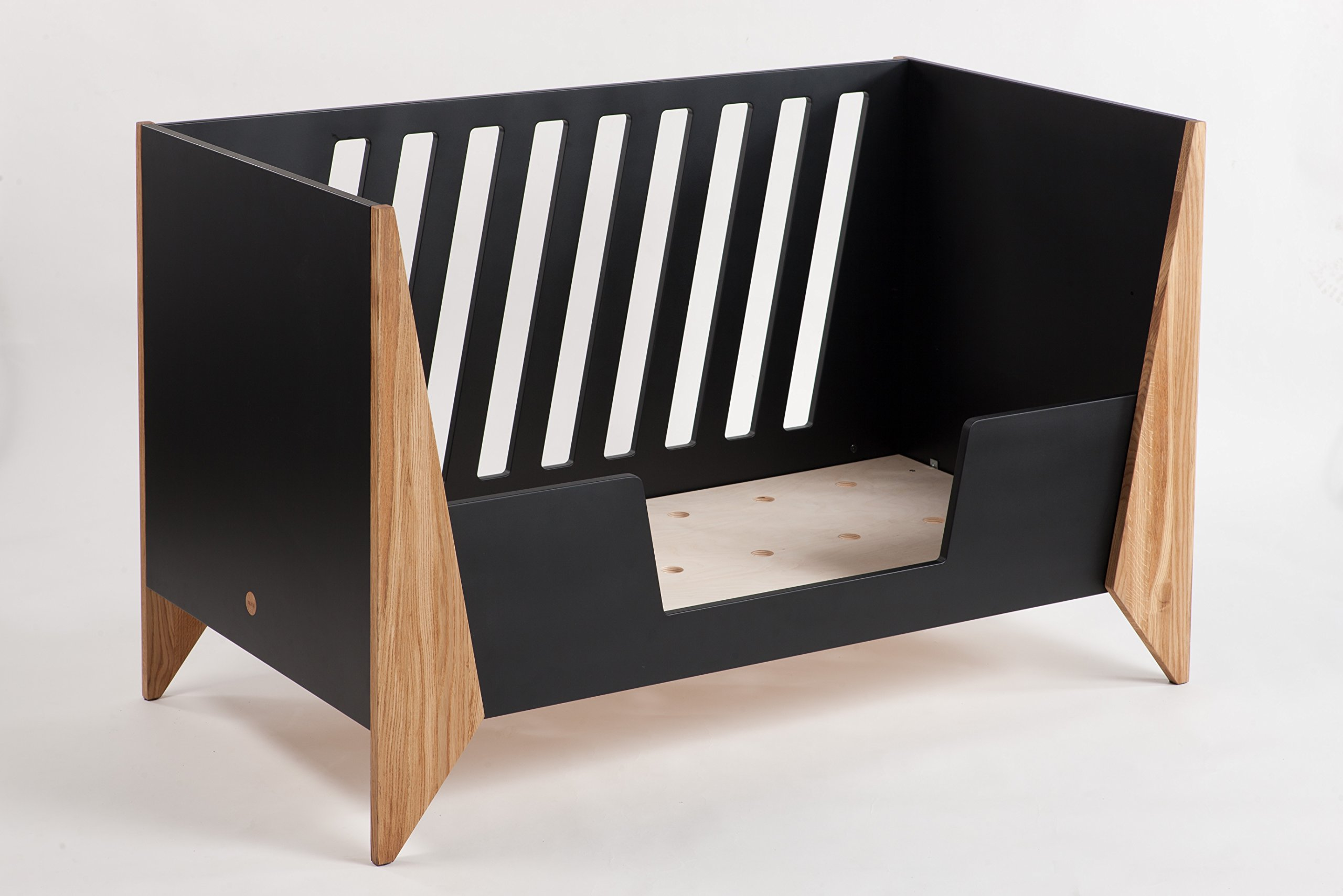 Nursery Cot (Black)  Made from high quality materials Mattress included Unique Scandinavian design 8