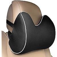 Feagar Car Neck Pillows, Memory Foam Headrest Cushions Car Seat Pillow, Breathable Cervical Pillows for Driving, Black