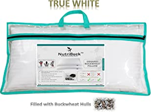 "NutriBuck Organic Buckwheat Pillow | Standard Size | 15"" x 25"" inch 