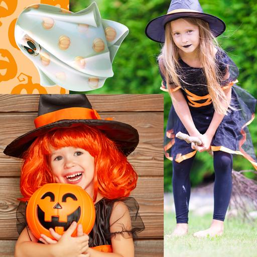 Bilder Spinnennetz Kostüm - Halloween-Foto-Collage