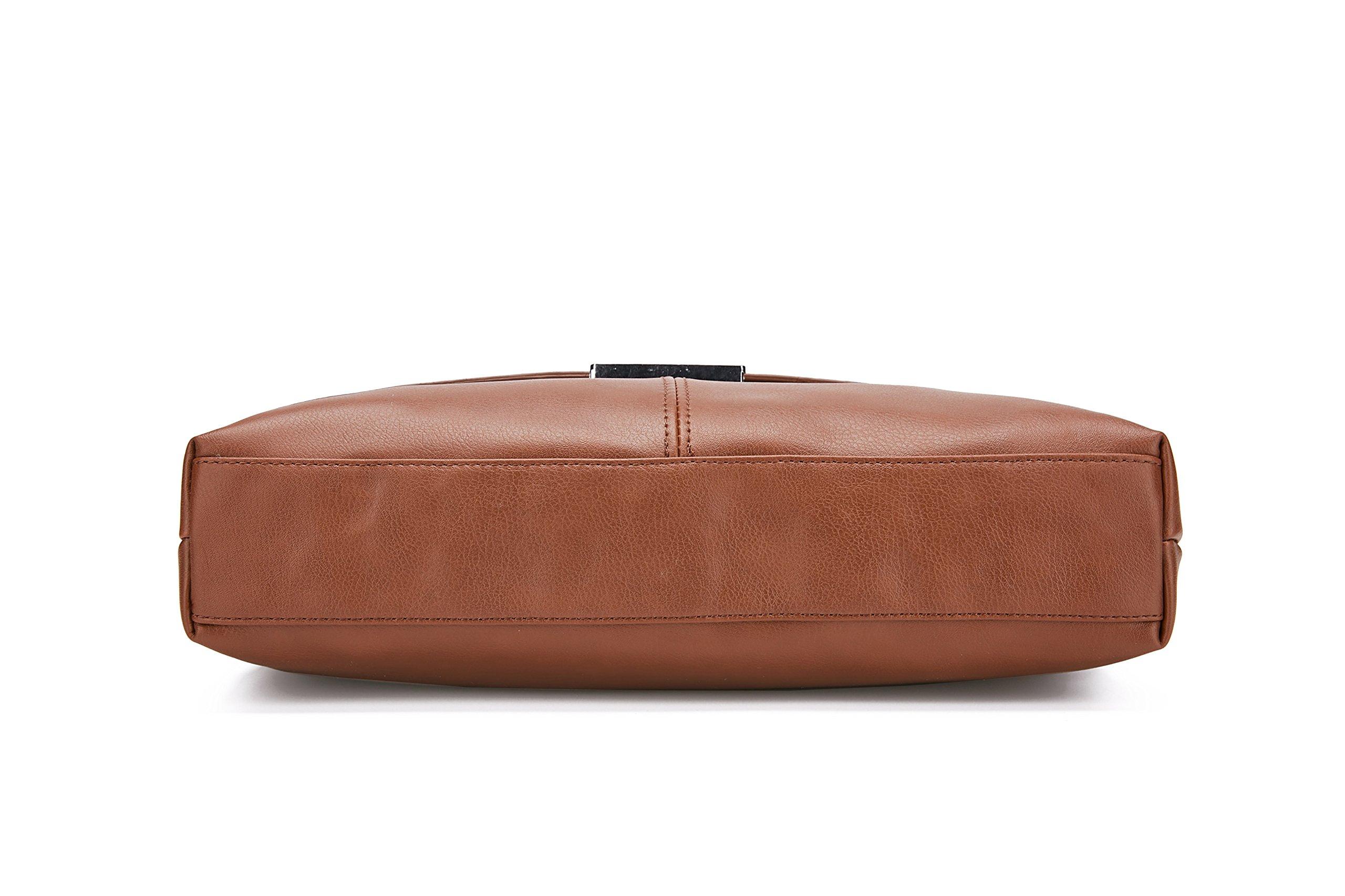 81sVtTNKEwL - Maod Cuero Suave Bolso Mensajero del Bandoleras Hombre Vintage maletin portatil Color Sólido Bolso Negocio Maletín…
