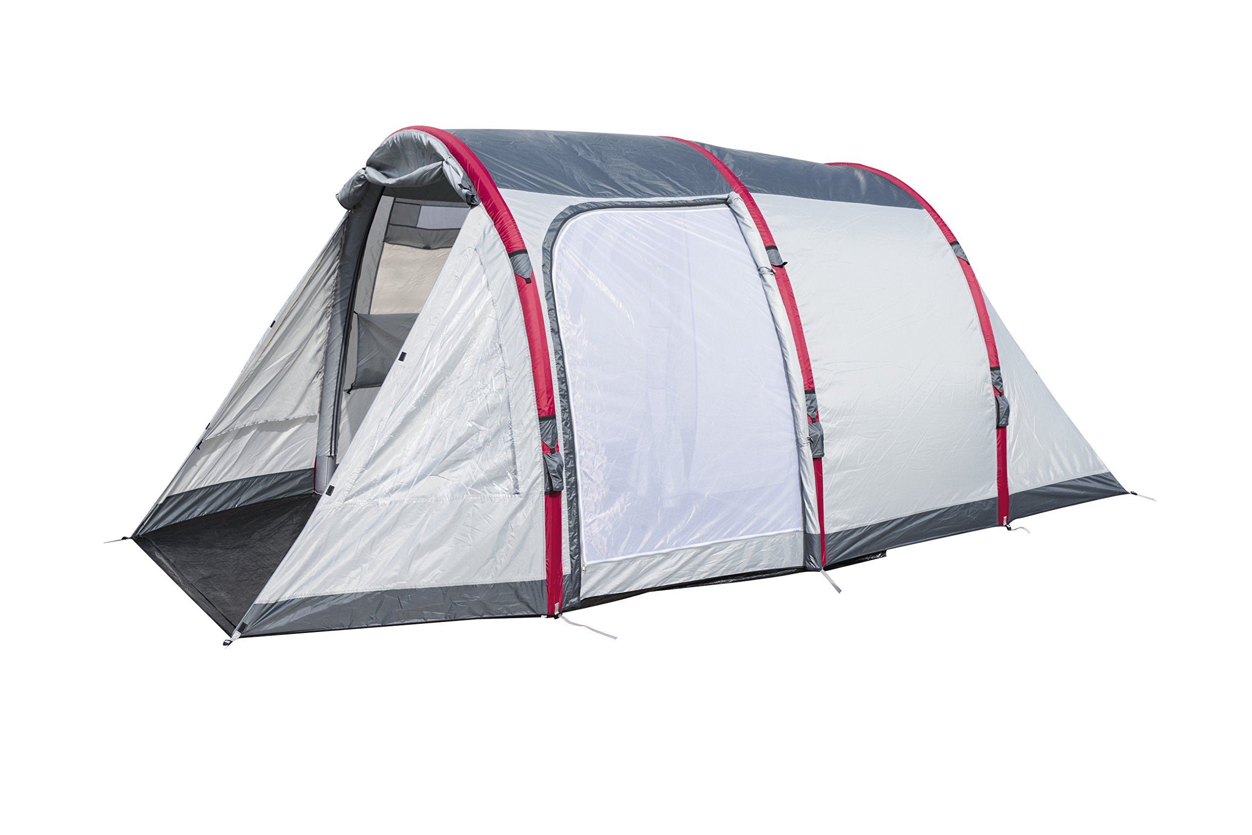 Pavillo Unisex's BW68077 Sierra Ridge Air Inflatable 4-Man Tunnel Tent Measures L4.85m x 2.79m x H2m, Grey, 4 Person 1