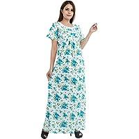 Himashu Handlooms Women's Cotton Printed Maxi Nightgown