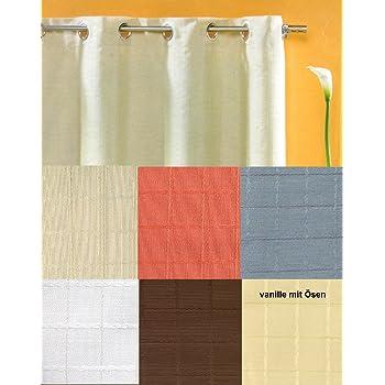 heimtexland senschal vorhang in creme uni blickdicht aber lichtdurchl ssig hxb 245x140. Black Bedroom Furniture Sets. Home Design Ideas