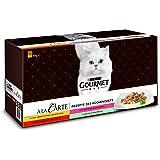 Purina Gourmet 12396051 Mokra Karma dla Kotów Mieszanka Odmian, 60 x 85g