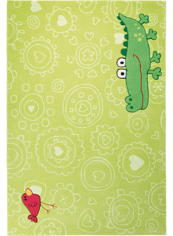 Kinderteppich sigikid  Sigikid Kinderteppich Happy Zoo Crocodile | grün | 120 x 180 cm ...