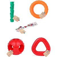 Goofy Tails Dog Chew Multicolour Toys (Small) -Combo of 5
