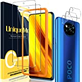 UniqueMe [2+3 Pack Screen Protector for Xiaomi Poco X3 NFC / X3 Pro Tempered Glass and Camera Lens Protector for Xiaomi Poco