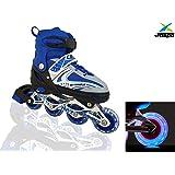 Jaspo Sparkle Adjustable Inline Skates with Front Light up Wheels Beginner Skates Fun Illuminating Roller Skates for All…