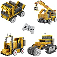 ThinkGizmos Le kit Robot pour Enfants - Le Kit de Construction de Jouet télécommandé Ingenious Machines (Grue, Chariot…
