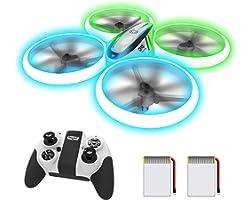 AVIALOGIC Q9s Drone per Bambini,Elicottero Telecomandato con Luci Blu & Verdi e Rotazione a 360°,RC Droni Con Mantenimento De
