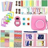Leebotree 10 en 1. Accessoires pour Appareil Photo Instax Mini 9, Mini 8/8+, Le Package Comprend étui,Album, lentille, filtres, Cadres, Stylo et Autres (Flamingo Rosa)