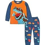Jurebecia Niño Pijamas Dos Piezas Pijamas de Manga Larga para niños Pijamas con Dinosaurio Edad 1-10 Años