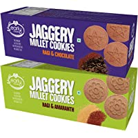 Early Foods - Assorted Pack of 2 - Ragi Amaranth & Ragi Choco Jaggery Cookies X 2