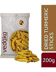 Amazon Brand - Vedaka Dried Turmeric Sticks (Haldi), 200g