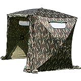 UHATEX Vistent 2 manen, karpertent, weerbestendige tent zonder bodem, camouflage, in 30 seconden alleen op- en afgebroken.