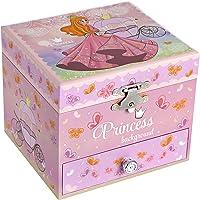 SONGMICS Scatola Musicale Portagioielli per Bambina con Ballerina, Design Elegante con Principessa e Farfalla, Melodia…