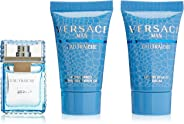 VERSACE Man Eau Fraiche Mixed Gift Set For Men, Perfume 5 ml + After Shave Balm 25 ml + Shower Gel 25 ml