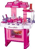 Brigamo 472 - Cucina giocattolo per bambini, con pentole, con luci e rumori di cottura, giocattolo per bambini