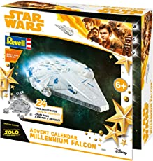 Revell Build&Play 01017 - Adventskalender Millennium Falcon, Star Wars, Disney SOLO - 24 Tage cooler Bastelspaß, der Bausatz mit dem Stecksystem für Kinder ab 6 Jahre, bauen und spielen
