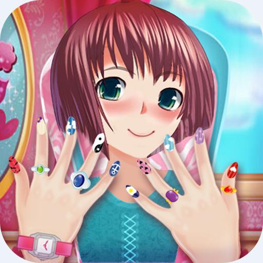 Anime Mädchen Nagelsalon: Maniküre  Nagellack Spiel -