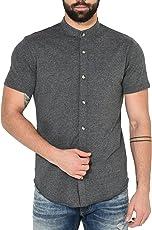 GRITSTONES Men's Cotton Half Sleeve Shirt