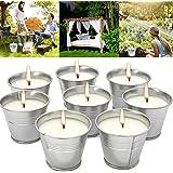 Anti Mücken Citronella Kerze Set 8, Anti Mücken Kerze Natürliches Sojawachs, funktionales Dekor und Sommergeschenk…