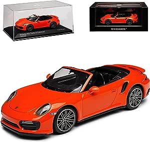 Porsche 911 991 Ii Turbo S Cabrio Orange Modell Ab 2012 Ab Facelift 2015 1 43 Minichamps Modell Auto Mit Individiuellem Wunschkennzeichen Spielzeug