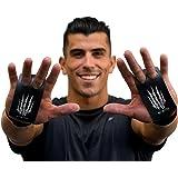 Bear KompleX 2-gaats Carbon Handgrepen voor gymnastiek, Crossfit, Pull-ups, Gewichtheffen, WOD's met polsbanden, comfort en o