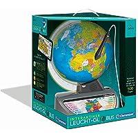 Clementoni 59183 Galileo Science – Interaktiver Leucht-Globus, sprechende Weltkugel mit Fragen & Fakten, Spielzeug für…