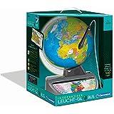Clementoni 59183 Galileo Science - Mappamondo Luminoso interattivo, Globo terrestre parlante con Domande e Fatti, Giocattolo