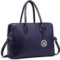 Miss LuLu Aktentasche Handtasche Laptoptasche Arbeitstasche Schultertasche Messenger Bag Retro Elegant Damen (LT1726…