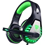 Cuffie Gaming con Microfono,3.5mm Cuffie da Gaming con Cancellazione del Rumore, Stereo Bass per PS4, Xbox One, PC, Mac…