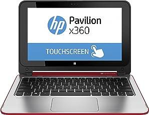 Hewlett Packard K0W10EA#ABD Pavilion 11-n001ng x360 29,5 cm (11,6 Zoll) Netbook (Intel Celeron N2840, 2,1GHz, 4GB RAM, 500GB HDD, Win 8, Touchscreen) rot