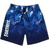 Fortnite Swim Shorts for Boys | Options Light OR Dark Blue Gamer Swimming Pants Trunks with Drawstring Waistband | Kids…
