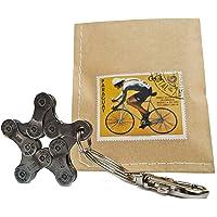 Portachiavi ciclismo bicicletta fatti a mano Star - regalo per ciclisti