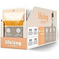 Marchio Amazon - Lifelong Alimento completo per gatti adulti- Selezione mista in gelatina, 2,4 kg (24 sacchetti x 100g)