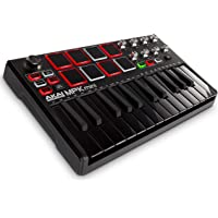 Akai Professional MPK Mini MKII - 25 Key USB MIDI Keyboard Controller with 8 Drum Pads and Pro Software Suite Included - Limited Edition Black Finish