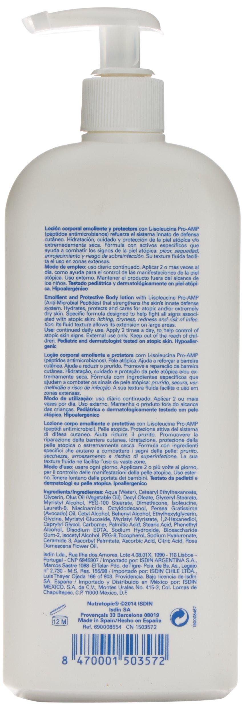 ISDIN Nutratopic Pro-AMP Loción Emoliente, 400 ml