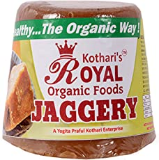Kothari's Royal Organic Food and Essential Oils Organic Jaggery, gud 1Kg