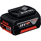 Bosch Professional 1600Z00038 Batterie GBA 18 V 4 Ah M-C (Poids: 600 g, Boîte en Carton) Bleu 4.0 Ah 1
